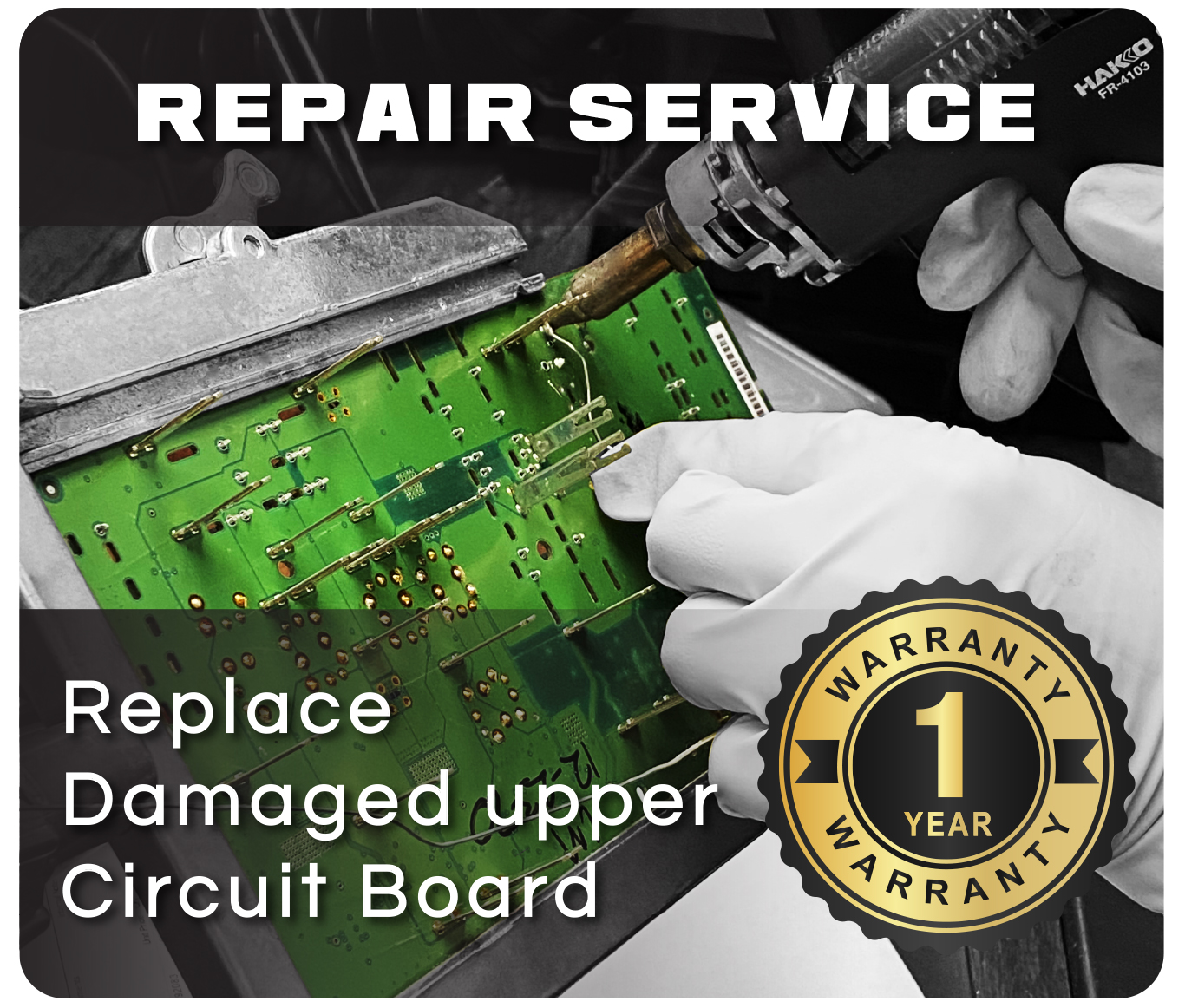 Replace Damaged Upper Circuit Board